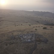 Aerial photograph of Horvat Kur (photographed by Griffin Aerial Imaging, www.griffin.co.il; @ Kinneret Regional Project).